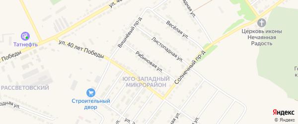 Рябиновая улица на карте Алатыря с номерами домов