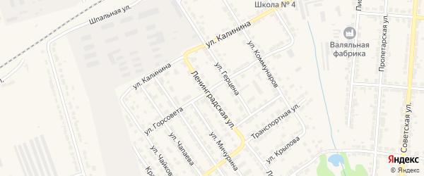 Улица Горсовета на карте Алатыря с номерами домов