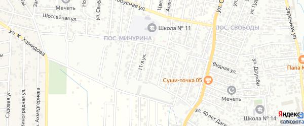 12-я улица на карте поселка Мичуриной с номерами домов
