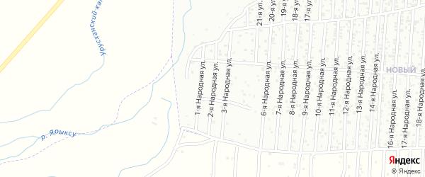2-я улица на карте Нового поселка с номерами домов
