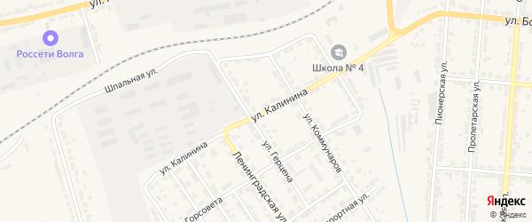 Улица Калинина на карте Алатыря с номерами домов