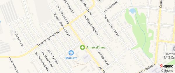 Полевая улица на карте Алатыря с номерами домов