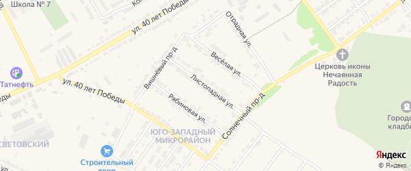 Листопадная улица на карте Алатыря с номерами домов