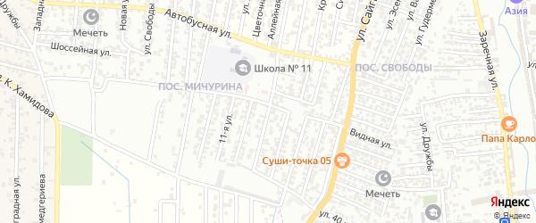 17-я улица на карте поселка Свободы с номерами домов
