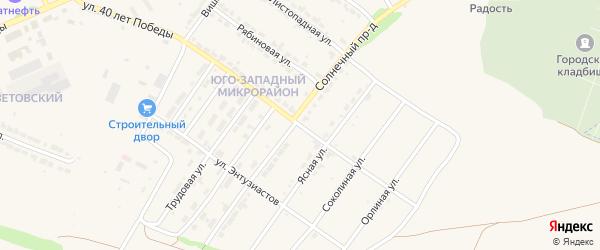 Кленовая улица на карте Алатыря с номерами домов