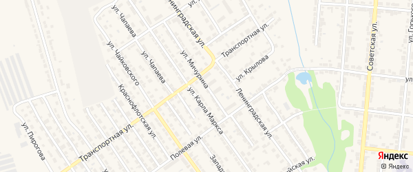 Улица Мичурина на карте Алатыря с номерами домов