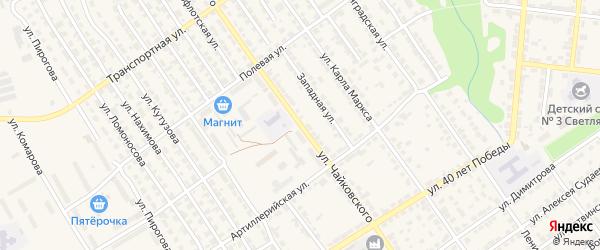 Улица Чайковского на карте Алатыря с номерами домов
