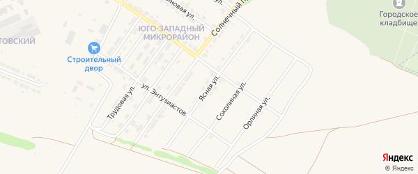 Ясная улица на карте Алатыря с номерами домов