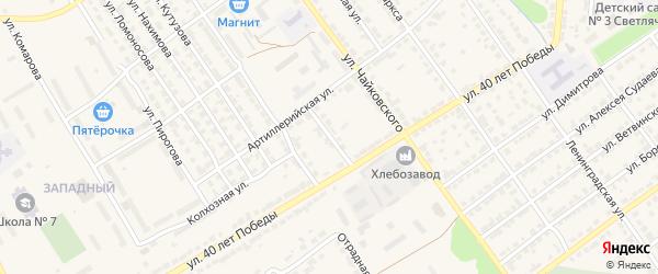 Алатырская улица на карте Алатыря с номерами домов