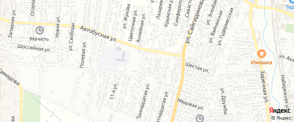 Автобусная улица 3-й проезд на карте Хасавюрта с номерами домов