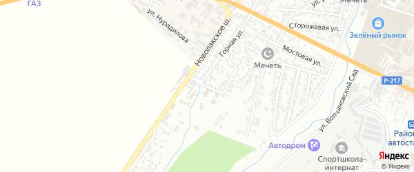 Террасная улица на карте Хасавюрта с номерами домов