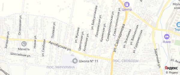 Улица Байсултанова Р.В. на карте Хасавюрта с номерами домов