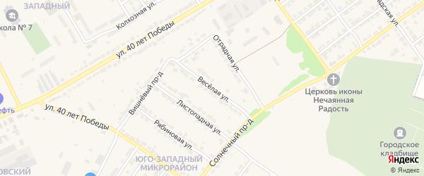 Веселая улица на карте Алатыря с номерами домов