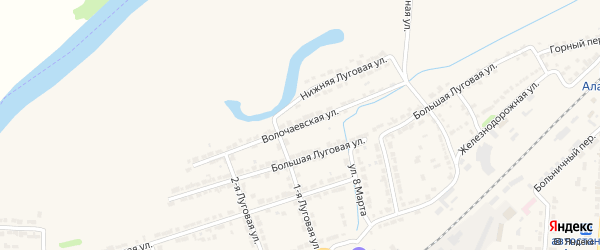 Волочаевская улица на карте Алатыря с номерами домов