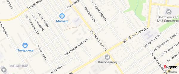 Артиллерийская улица на карте Алатыря с номерами домов