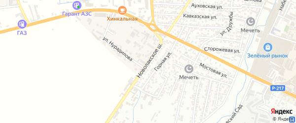 Новолакское шоссе на карте Хасавюрта с номерами домов