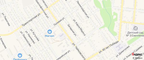 Западная улица на карте Алатыря с номерами домов