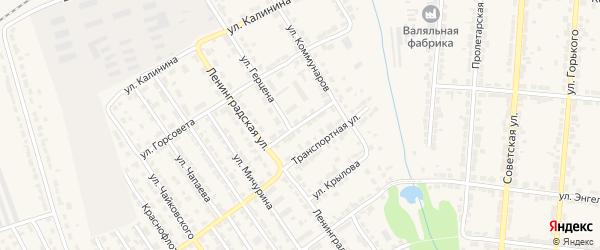 Улица Осипенко на карте Алатыря с номерами домов