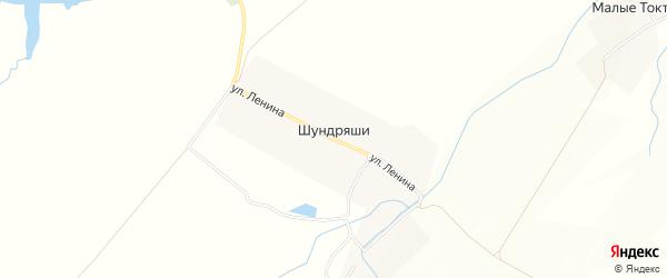Карта деревни Шундряши в Чувашии с улицами и номерами домов