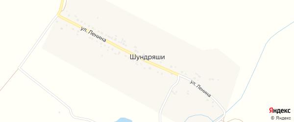 Улица Ленина на карте деревни Шундряши с номерами домов
