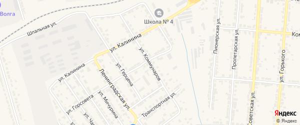 Улица Коммунаров на карте Алатыря с номерами домов