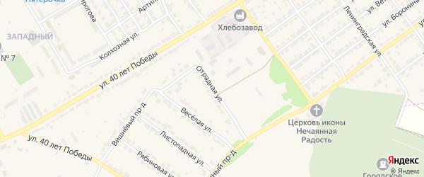 Отрадная улица на карте Алатыря с номерами домов