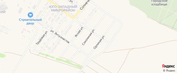 Соколиная улица на карте Алатыря с номерами домов