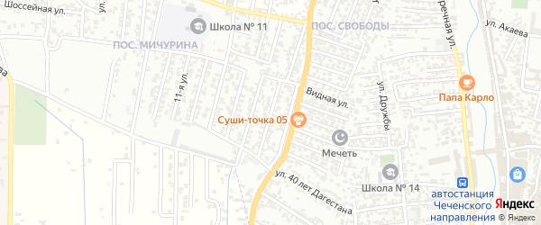 15-я улица на карте поселка Свободы с номерами домов
