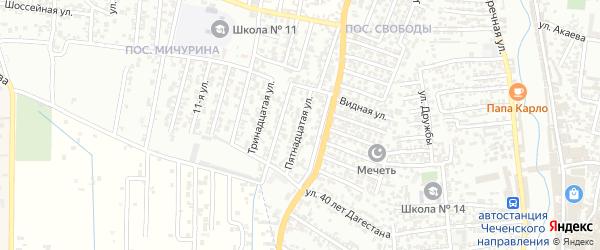 15-я улица на карте поселка Мичуриной с номерами домов