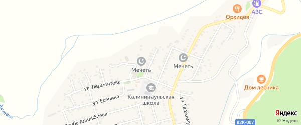 Почтовая улица на карте села Калининаула с номерами домов
