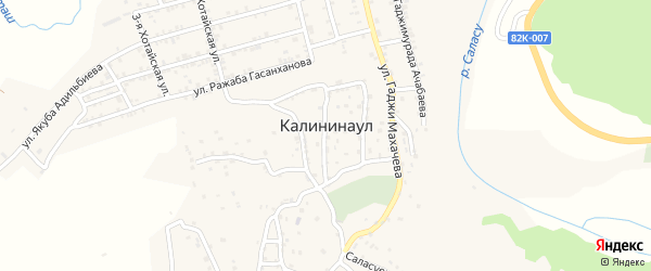 Улица Исы Сурхаева на карте села Калининаула с номерами домов
