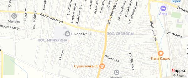 Автобусная улица 1-й проезд на карте Хасавюрта с номерами домов
