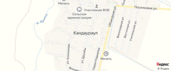 Шоссейная улица на карте села Кандаураула с номерами домов