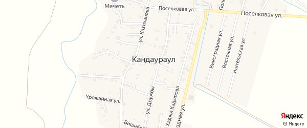 Родниковая улица на карте села Кандаураула с номерами домов