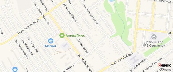 Улица К.Маркса на карте Алатыря с номерами домов