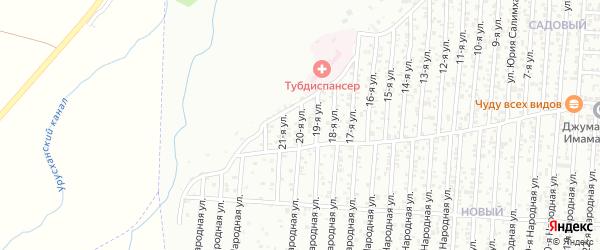 Грозненская улица 20-й проезд на карте Хасавюрта с номерами домов