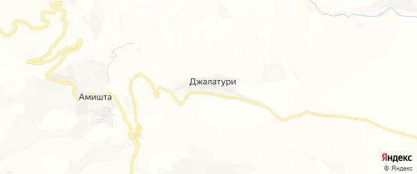Карта села Джалатури в Дагестане с улицами и номерами домов