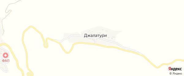 Джалатуринская улица на карте села Джалатури с номерами домов