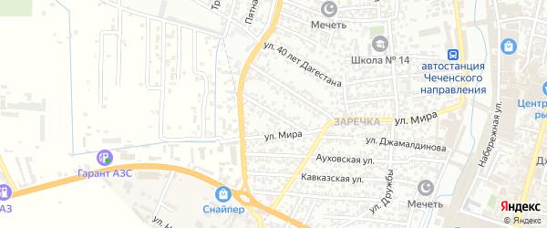 Новосовхозная улица на карте Хасавюрта с номерами домов