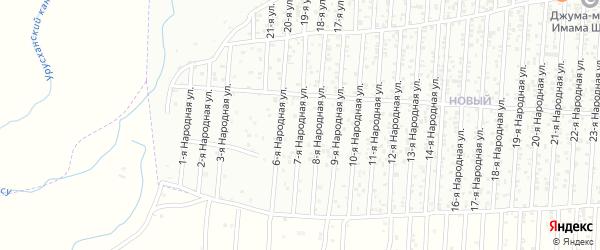 7-я улица на карте Нового поселка с номерами домов