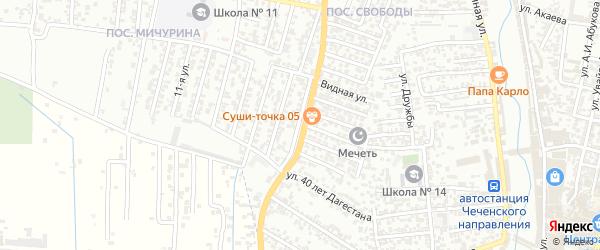 16-я улица на карте поселка Мичуриной с номерами домов