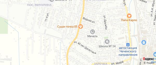 14-я улица на карте поселка Мичуриной с номерами домов