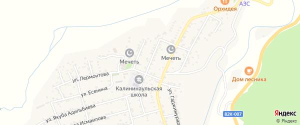 Административная улица на карте села Калининаула с номерами домов