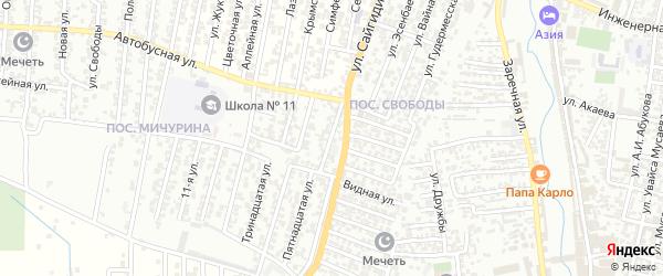 Интернациональная улица на карте Хасавюрта с номерами домов
