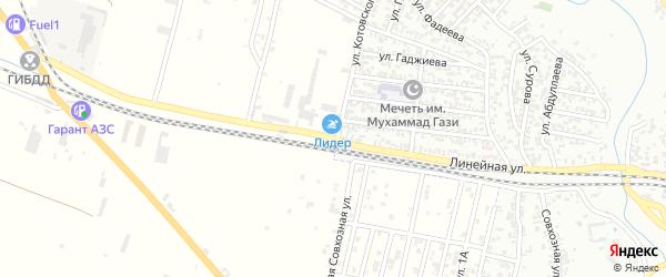 Линейная улица на карте Хасавюрта с номерами домов