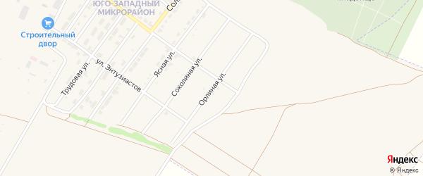 Орлиная улица на карте Алатыря с номерами домов