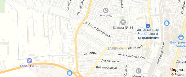 Новогрозненская улица на карте Хасавюрта с номерами домов