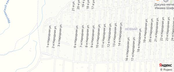 8-я улица на карте Нового поселка с номерами домов