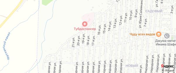 18-я улица на карте Садового поселка с номерами домов