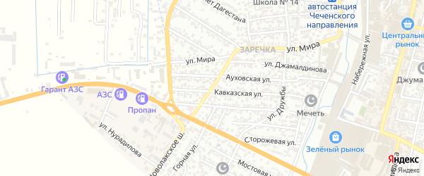Улица Алимсултанова на карте Хасавюрта с номерами домов